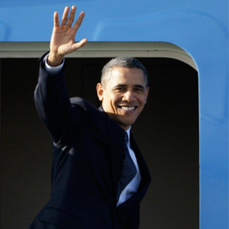 President Obama boarding Air Force One in San Francisco Friday.