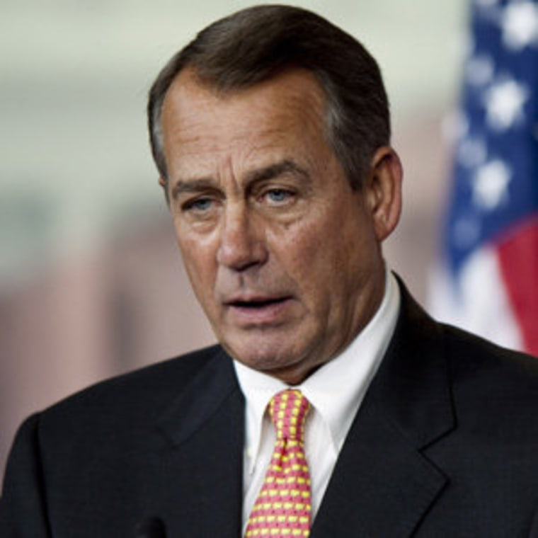 Speaker John Boehner discussing birth control on Capitol Hill last week.