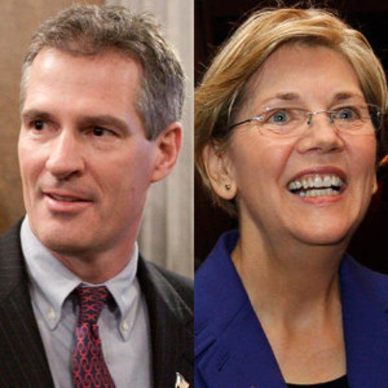Sen. Scott Brown and Elizabeth Warren