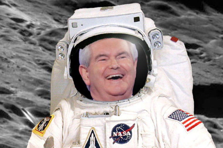 Newt Gingrich wants a moon colony