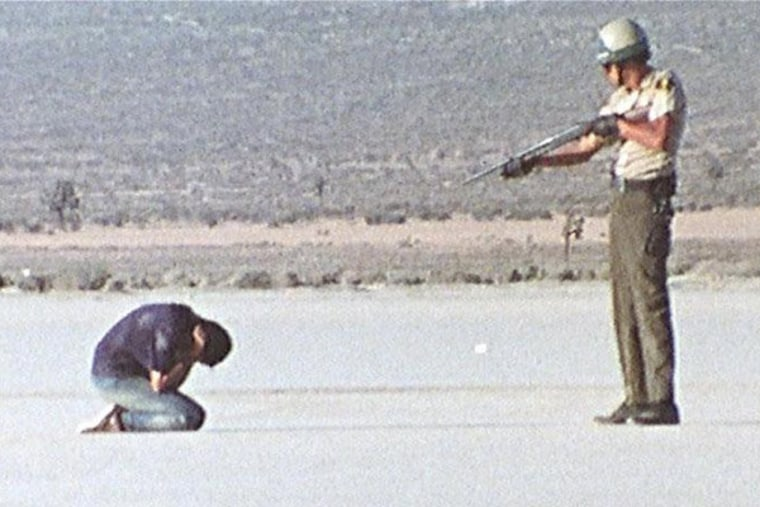 "A scene from the 1971 film, ""Punishment Park."""