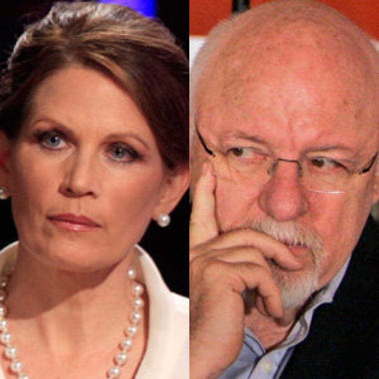 Michele Bachmann (file) and Ed Rollins (file)