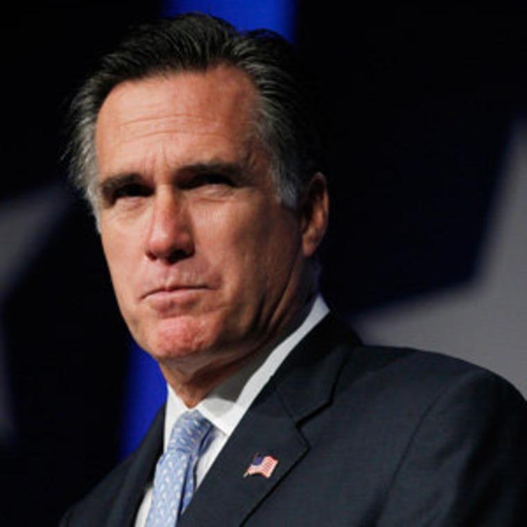 Willard M. Romney speaking at the Values Voter Summit in Washington on Saturday.