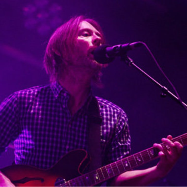 Radiohead's Thom Yorke performing at Roseland Ballroom in New York on Thursday