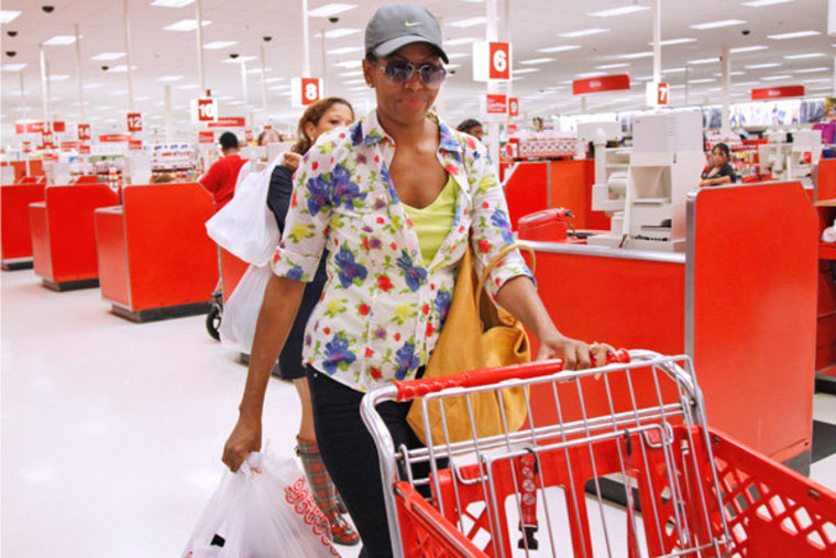 First lady Michelle Obama at a Target in Alexandria, Virginia on Thursday