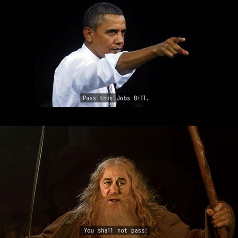 Washington meets Middle Earth