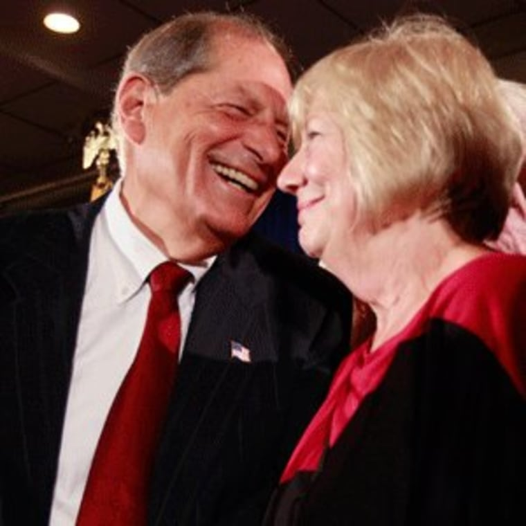 NY9 winner Bob Turner with his wife Peggy at an election night party in New York on Tuesday.