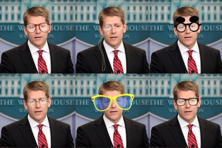 Jay Carney loses his fancy frames