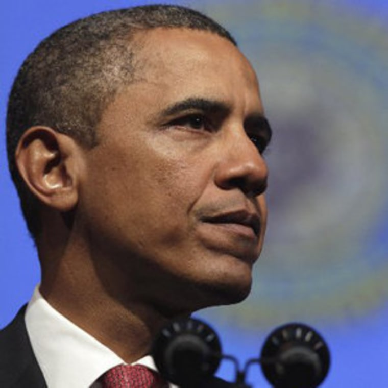 President Obama speaking at the Minneapolis Convention Center on Tuesday.