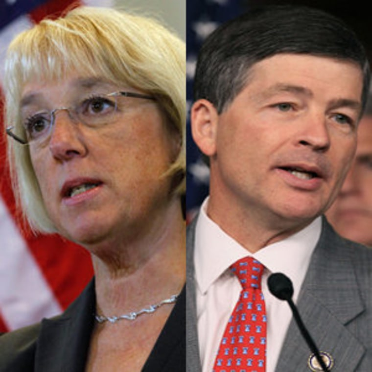 Super committee co-chairs Sen. Patty Murray (file) and Rep. Jeb Hensarling (file)