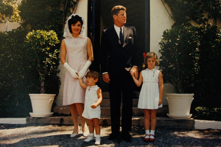 The Kennedy family in the early 1960s.