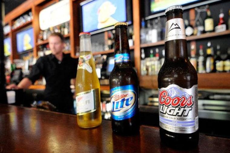Drink 'em if you got 'em! Ugly Mug restaurant and bar in Minneapolis on Wednesday.