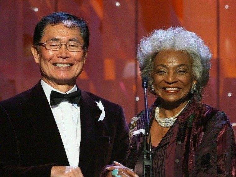 George Takei & Nichelle Nichols at the 2009 GLAAD Awards
