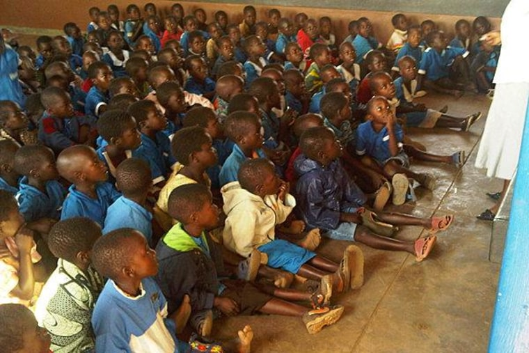 Young school children in Malawi, pre-KIND delivery.