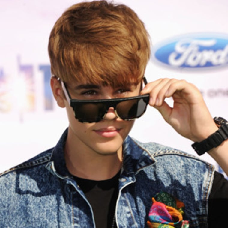 Justin Bieber at the BET Awards in L.A. on Sunday.