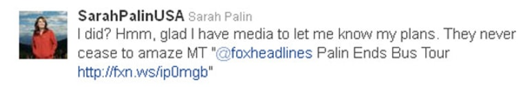 End of the road for Palin's bus tour?