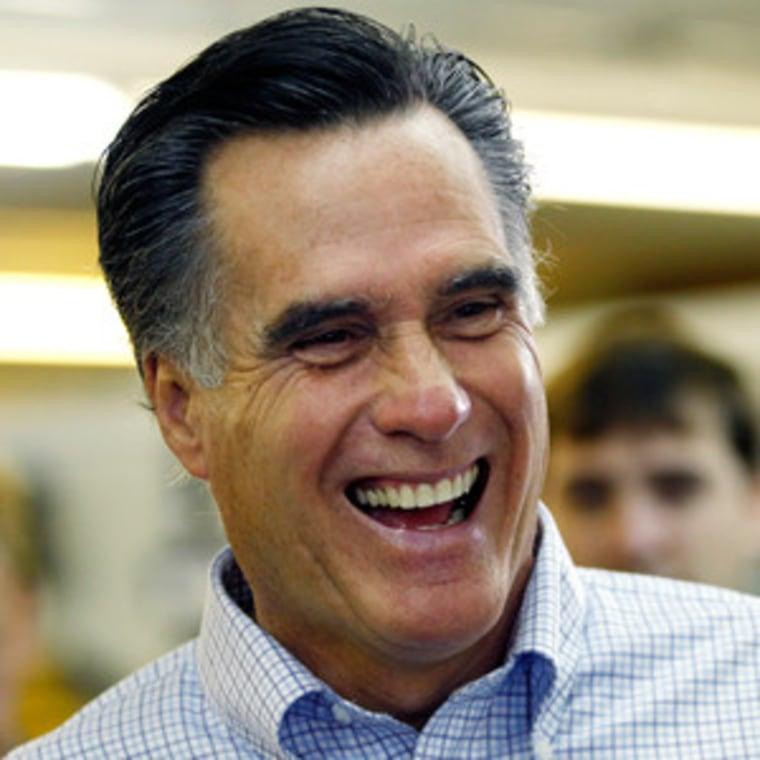 Mitt Romney, bad comedian (file)