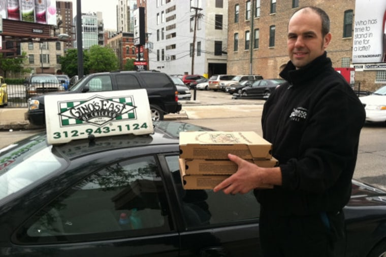 Mitt Romney tweeted this photo of a deliveryman on his way to the Obama's HQ in Chicago