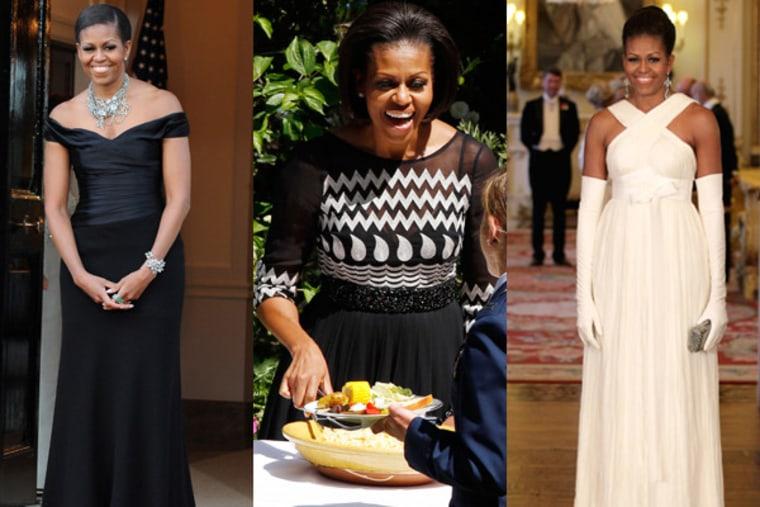 Michelle Obama representing it London.