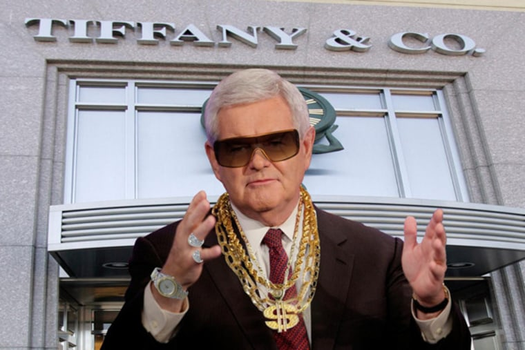 Newt Gingrich, blinged out