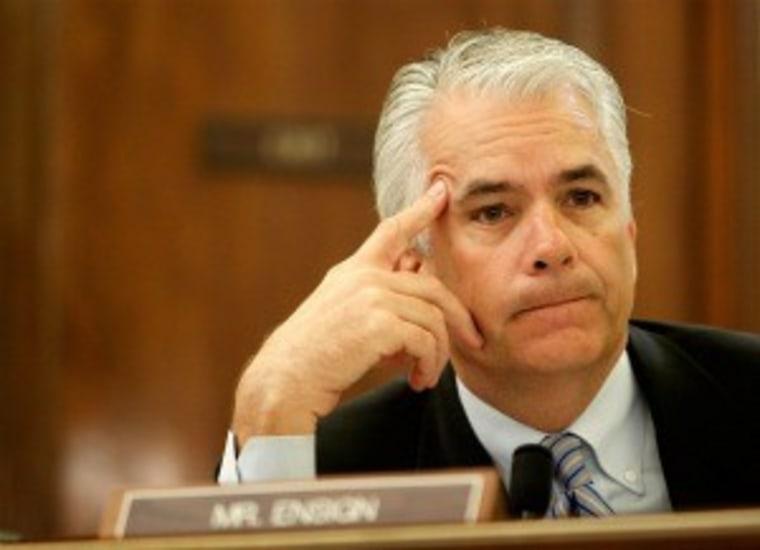 Ethics cmte: Ensign broke criminal laws