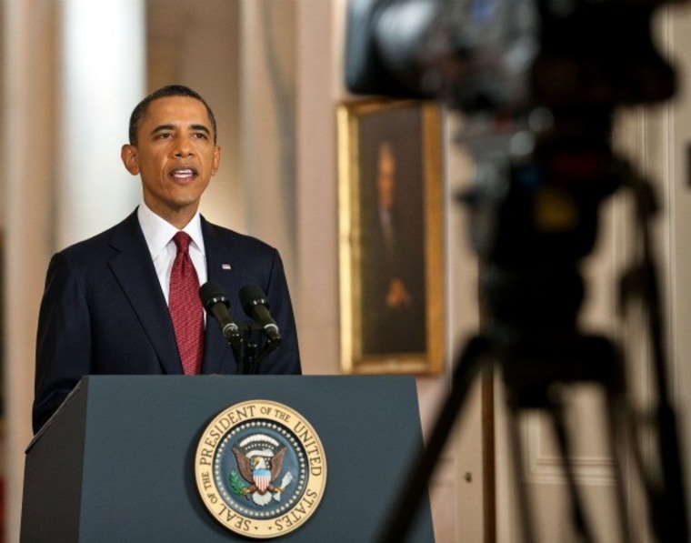 Pres. Obama tells the nation on May 1 that bin Laden has been killed