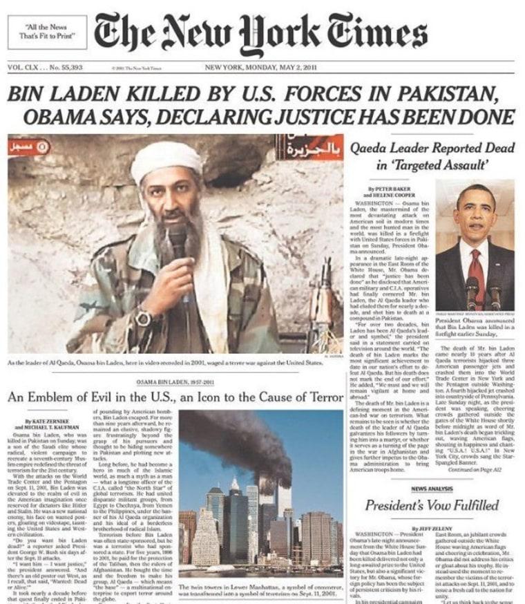 Bin Laden's Death: The Headlines