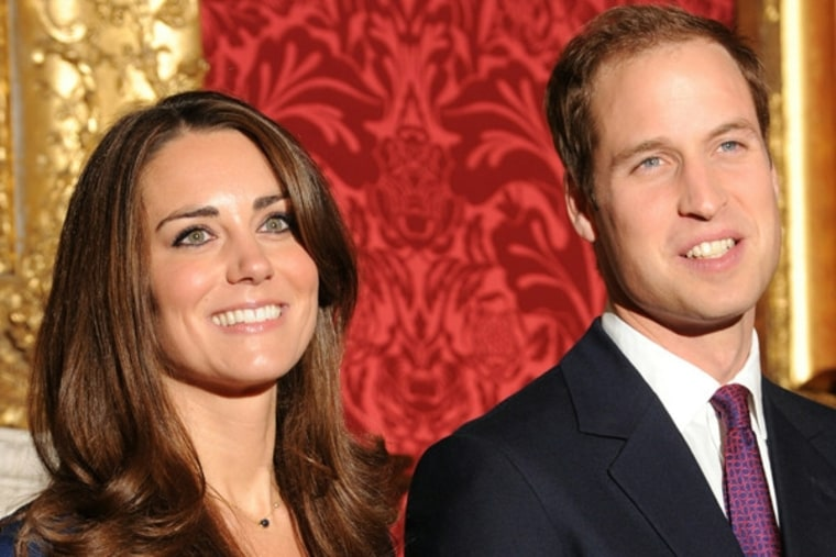 The happy couple, Kate Middleton and Prince William
