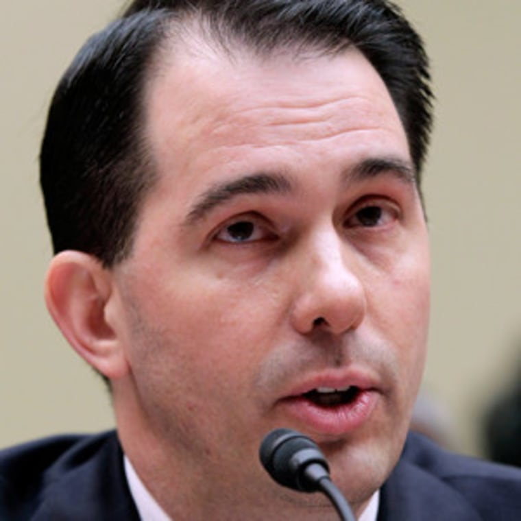Gov. Walker testifying before the House Oversight and Government Reform Committee on Thursday.