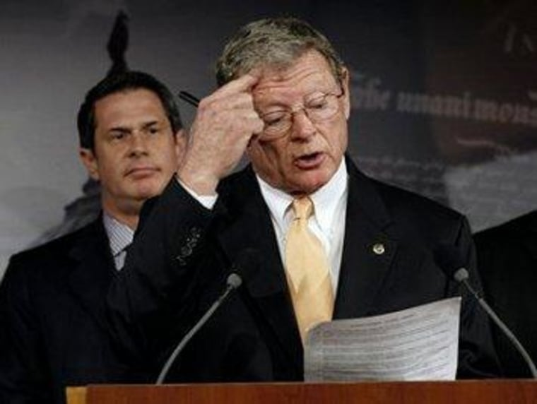 Vitter, Inhofe have curious standards for 'transparency'
