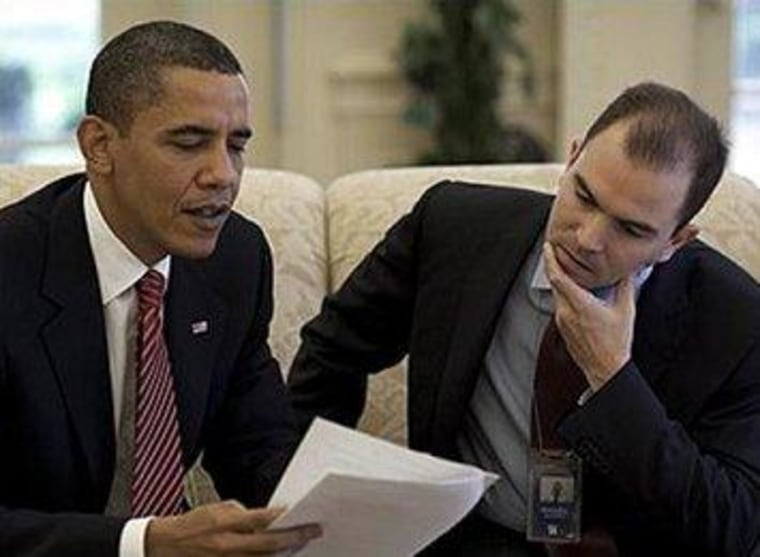 President Obama and Deputy National Security Adviser Ben Rhodes
