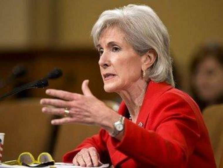 Sebelius forced to get creative