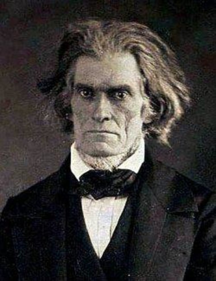 19th-century Sen. John C. Calhoun, a big nullification fan