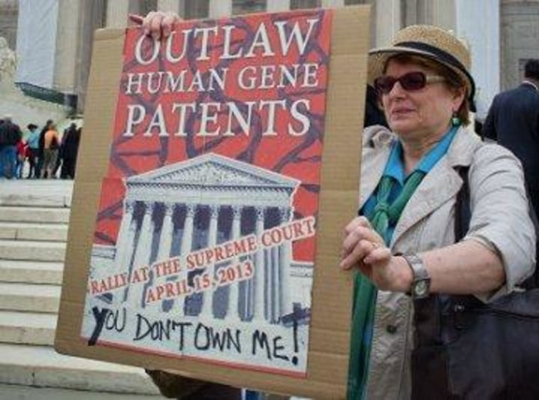 Unanimous court: companies can't patent human genes