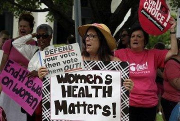 Reproductive-rights proponents protest in North Carolina