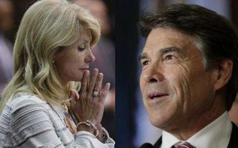 What Texas' Perry sees as 'praise'