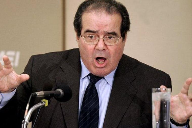 Antonin Scalia and his 'argle-bargle'