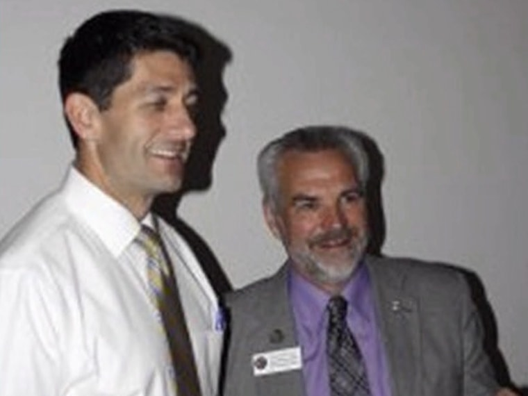 """Paul Ryan and Wisconsin Rep. Roger Rivard, who told a local newspaper that his father told him """"some girls, they rape so easy."""""""