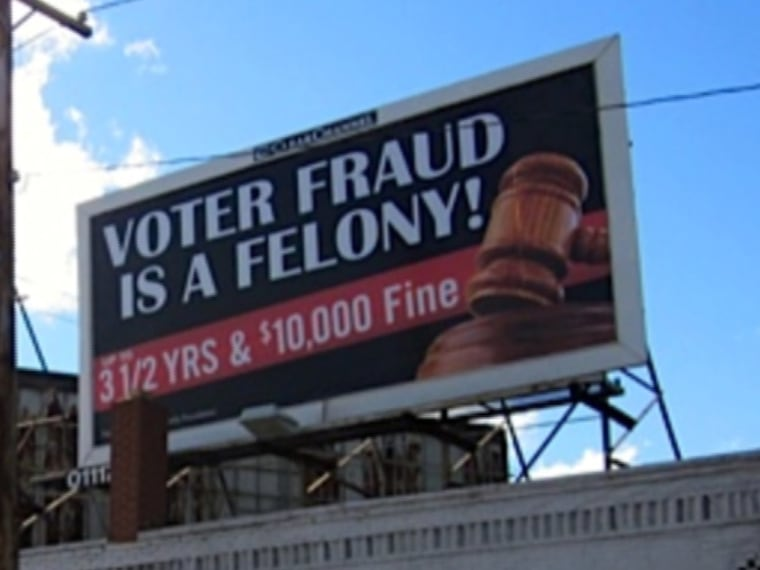 Voters in Cleveland now see a splash of billboards posing as public service announcements against voter fraud. The problem? Not only does voter fraud hardly exists, but Melissa Harris-Perry shares the potential strategy of where in the city these...