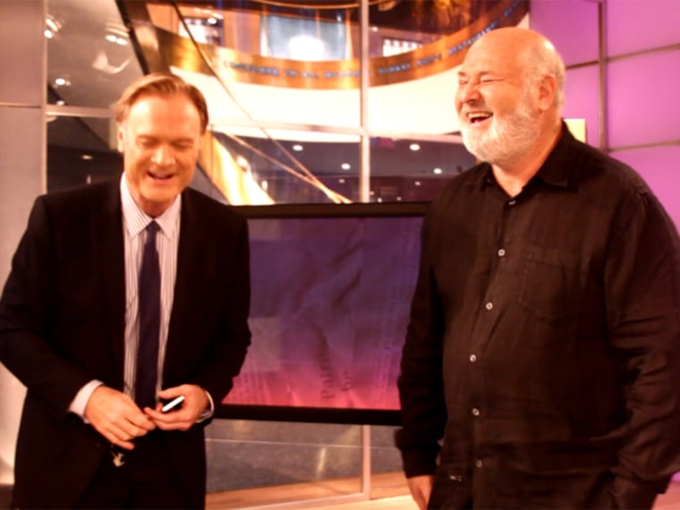 Lawrence O'Donnell and Rob Reiner
