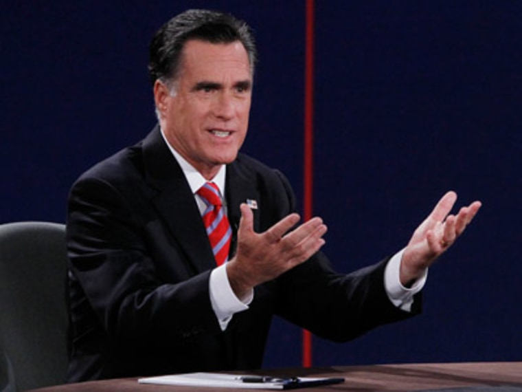 Mitt Romney at the final presidential debate Monday in Boca Raton, Florida. (Jason Reed /Reuters)