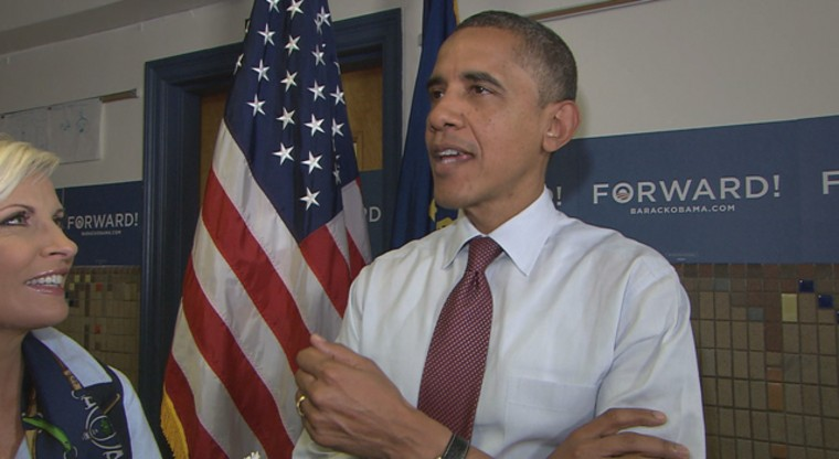 Obama speaking on Morning Joe in New Hampshire