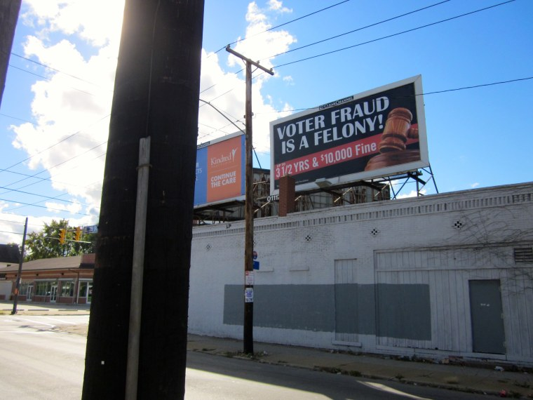 E. 79th Street in Cleveland, Ohio, before these sorts of billboards were torn down. (Johnnie Smith)