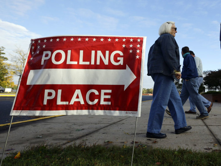 Early voters at a polling place in Salisbury, Md. on Wednesday. (Alex Brandon/AP Photo)