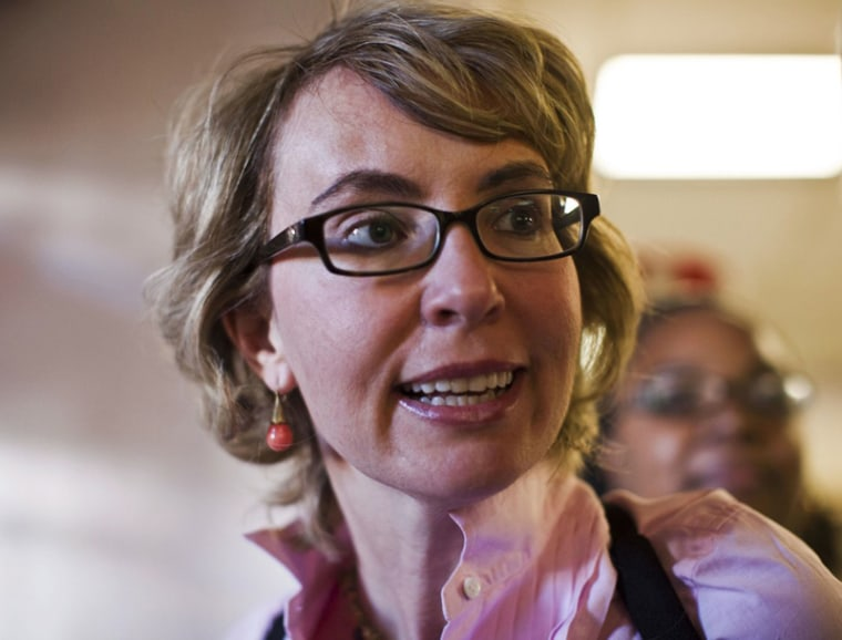 Former congresswoman Gabrielle Giffords leaves the Pima County Recorder's office after casting her ballots in downtown Tucson, Ariz., November 5. (Photo: Samantha Sais/Reuters)