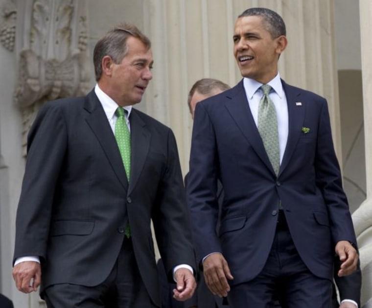 House Speaker John Boehner and President Obama.