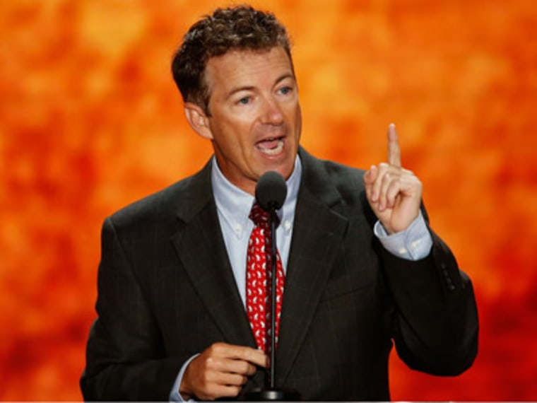 Rand Paul speaking at the 2012 RNC in Tampa, Florida. (Mike Segar/Reuters)