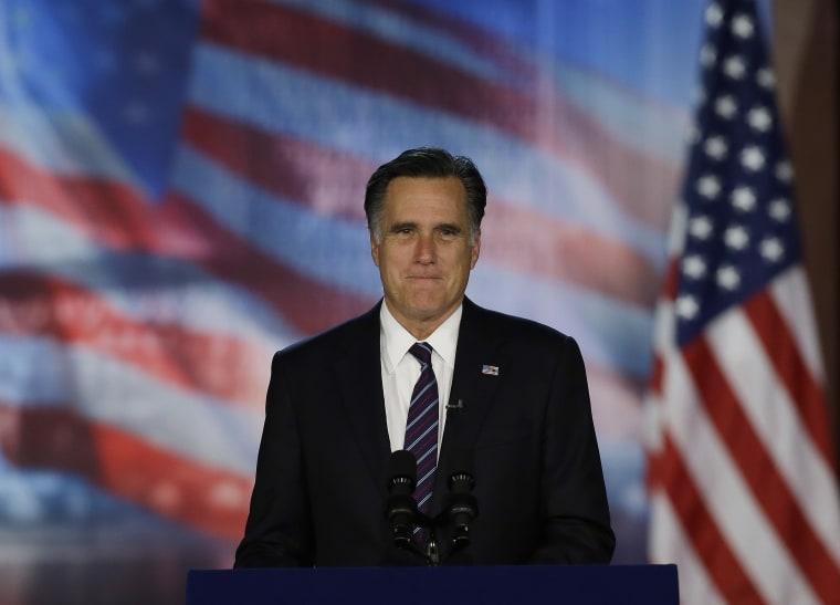 Mitt Romney prior to conceding the presidential election. (David Goldman/AP Photo)