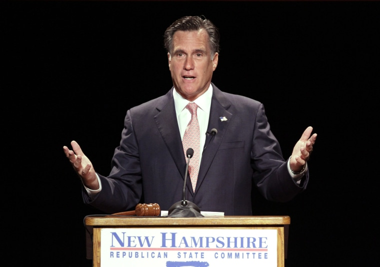 Failed Republican presidential candidate Mitt Romney earlier this year. (Photo by Mary Schwalm/AP)
