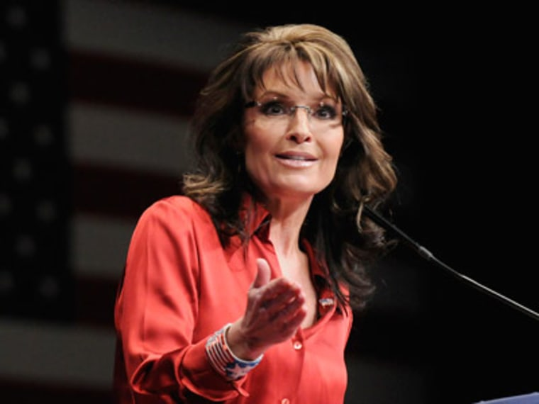 Former Alaska Governor Sarah Palin speaks at the 2012 Conservative Political Action Conference in Washington on February 11, 2012. REUTERS/Jonathan Ernst/Files